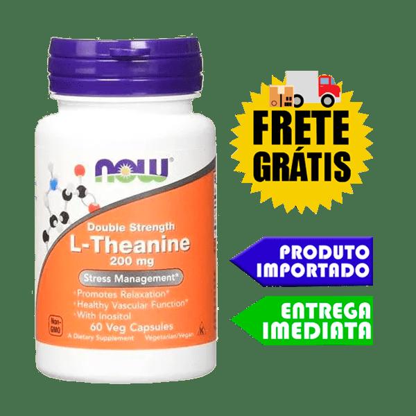 L Teanina - Now Foods (200mg - 60 cápsulas)