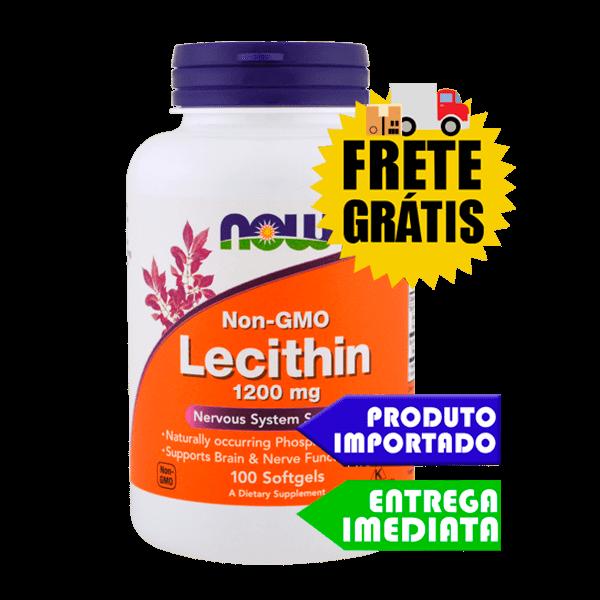 Lecitina de Soja - Now Foods (1200mg 100 capsulas)