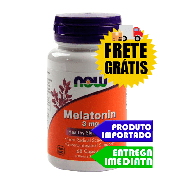 Melatonina 3mg - Now Foods - 60 capsulas