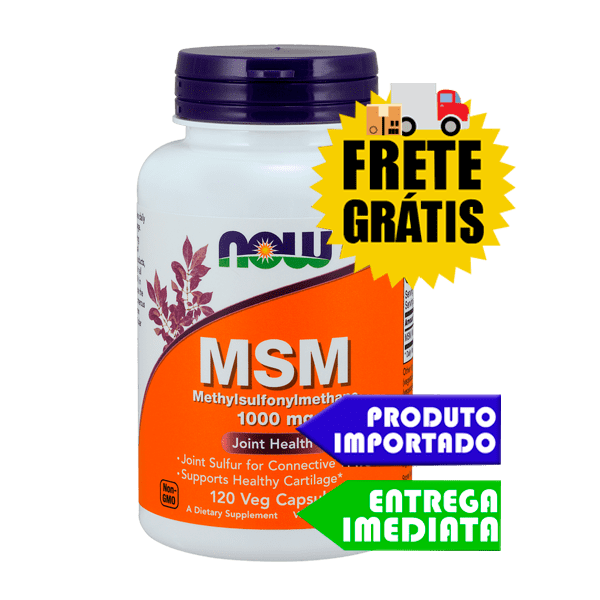 MSM - Now Foods (120 cápsulas)