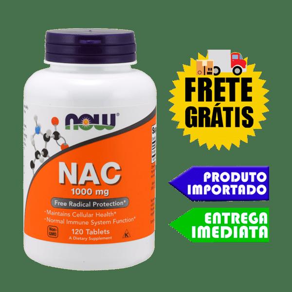 N Acetilcisteina ( NAC ) 1000 mg Now Foods - 120 tabletes