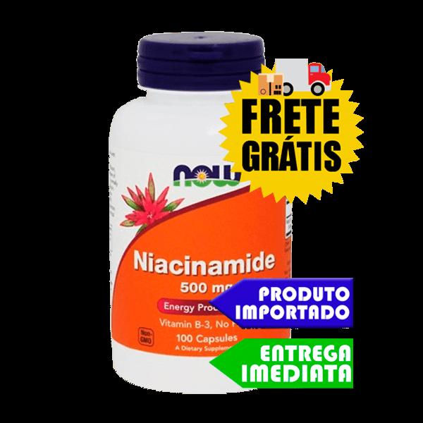 Niacinamida - Vitamina B3 - Now Foods - (100 capsulas)