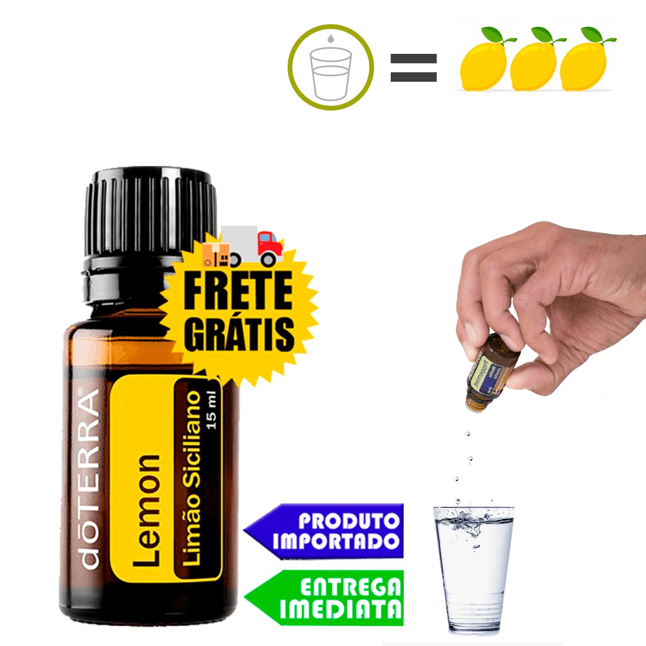 Óleo Essencial de Limão Siciliano   doTERRA - 5ml - 100 Gotas (Uso Interno / Externo)