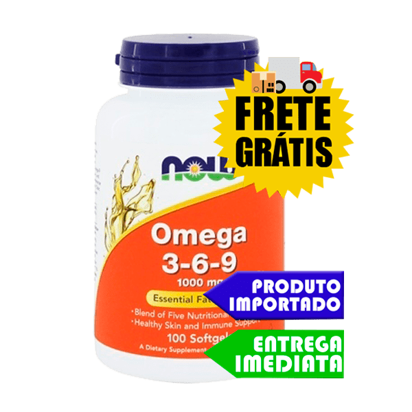 Omega 3  6  9 - Now Foods (100 cápsulas)