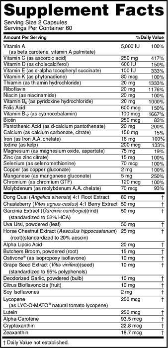 Opti Women - Optimum Nutrition (120 cápsulas - IMPORTADO)