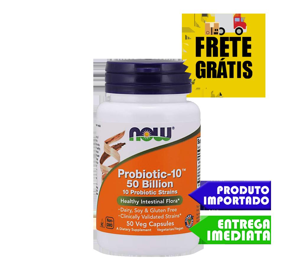 Probiótico 50 Bilhões - Now Foods (50 cápsulas)