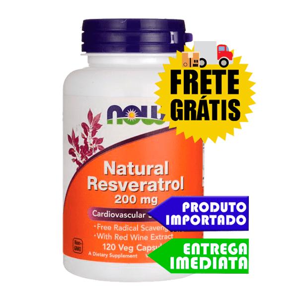 Resveratrol - Now Foods (200mg - 60 cáps)