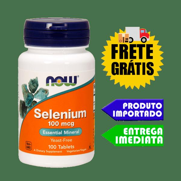 Selênio - Now Foods (100mcg - 100 cápsulas)