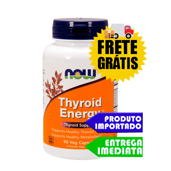 Tireóide suporte - Now Foods (90 cápsulas) | Remedio e tratamento natural