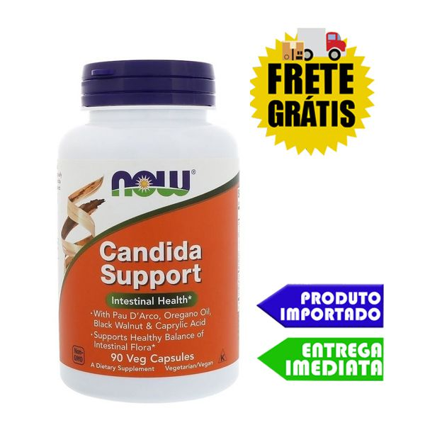 Tratamento Candidíase - Now Foods (90 cápsulas)   Masculina e Feminina   Remédio natural caseiro