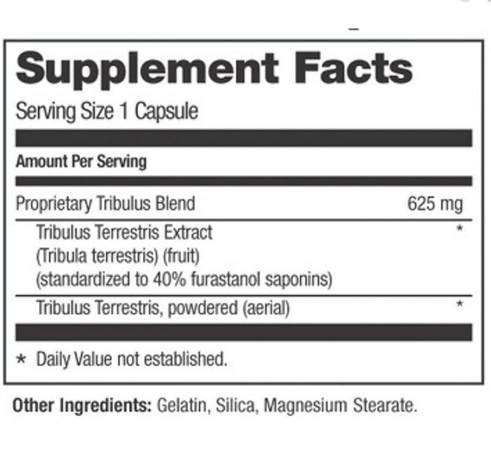 Tribulus Terrestris 625mg - Optimum Nutrition (100 cápsulas)