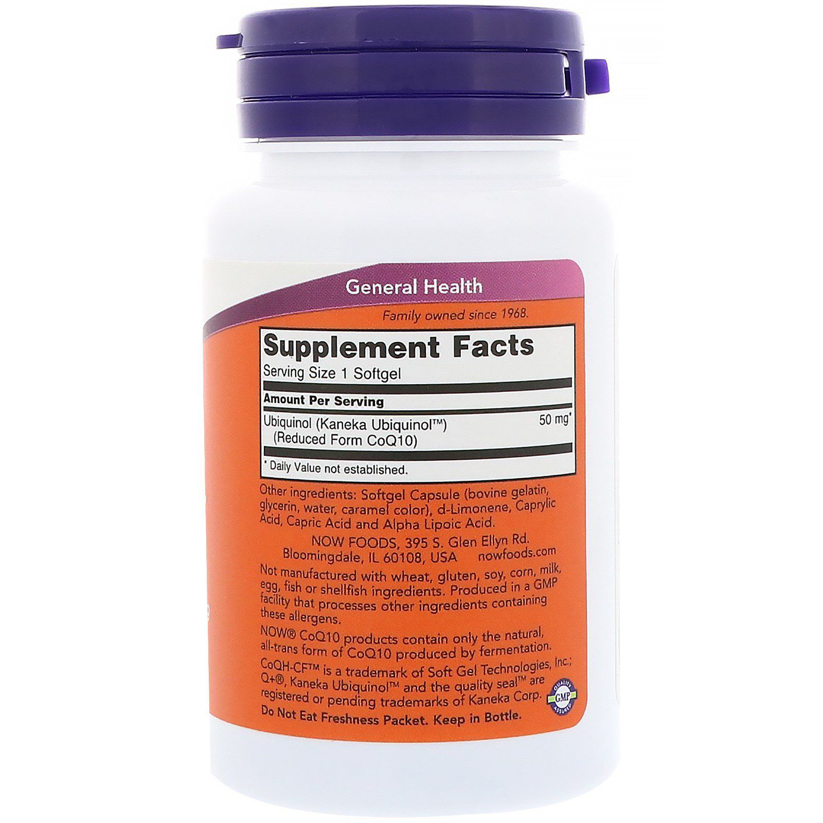 Ubiquinol CoQH-CF (Coenzima Q10) - Now Foods (60 cápsulas)