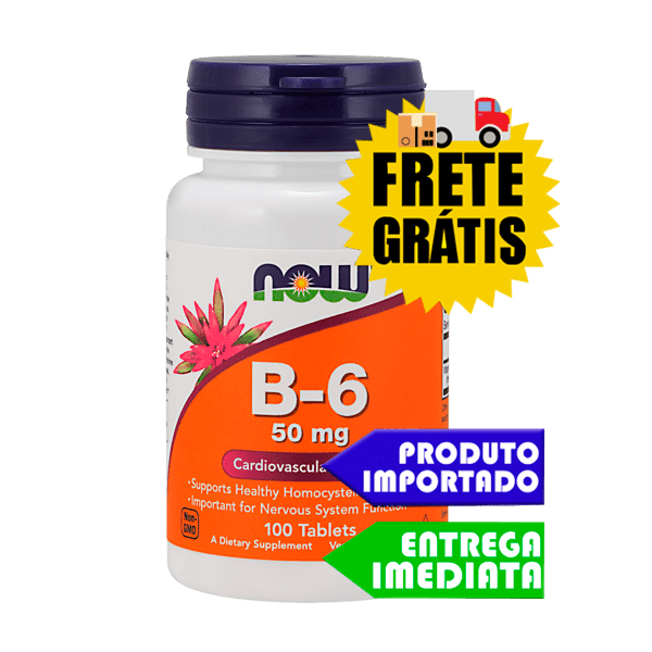 Vitamina B6 - Now Foods (50mg - 100 tabletes)