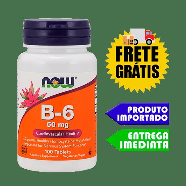 Vitamina B6 - Now Foods (50mg - 100 tabletes)
