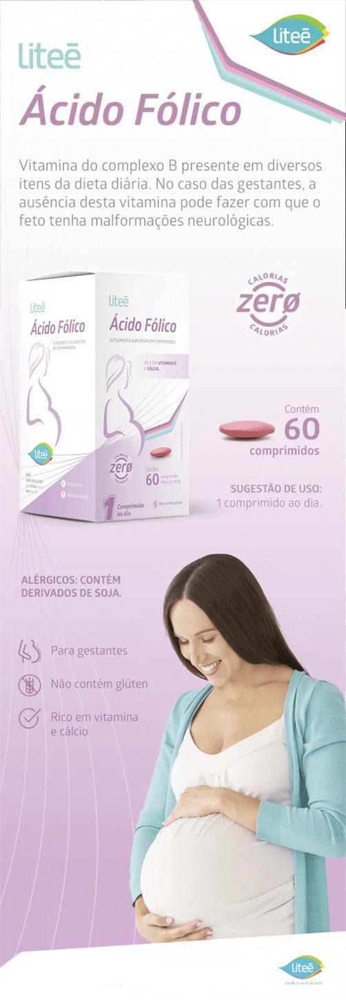 Ácido Fólico e Vitamina E - 60 Comprimidos Revestidos