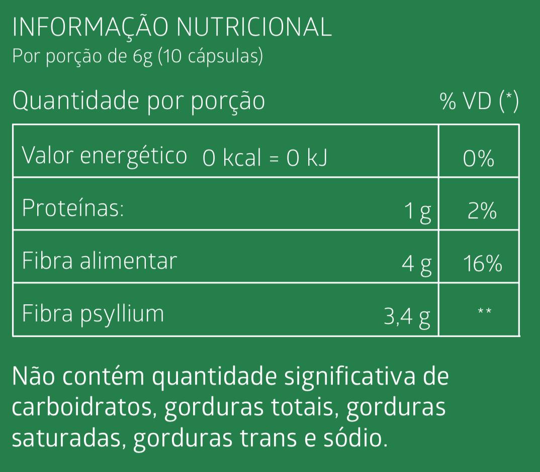 ACTIFÉ -  Psyllium, Tamarindo, Laranja e Ameixa  60 Cápsulas