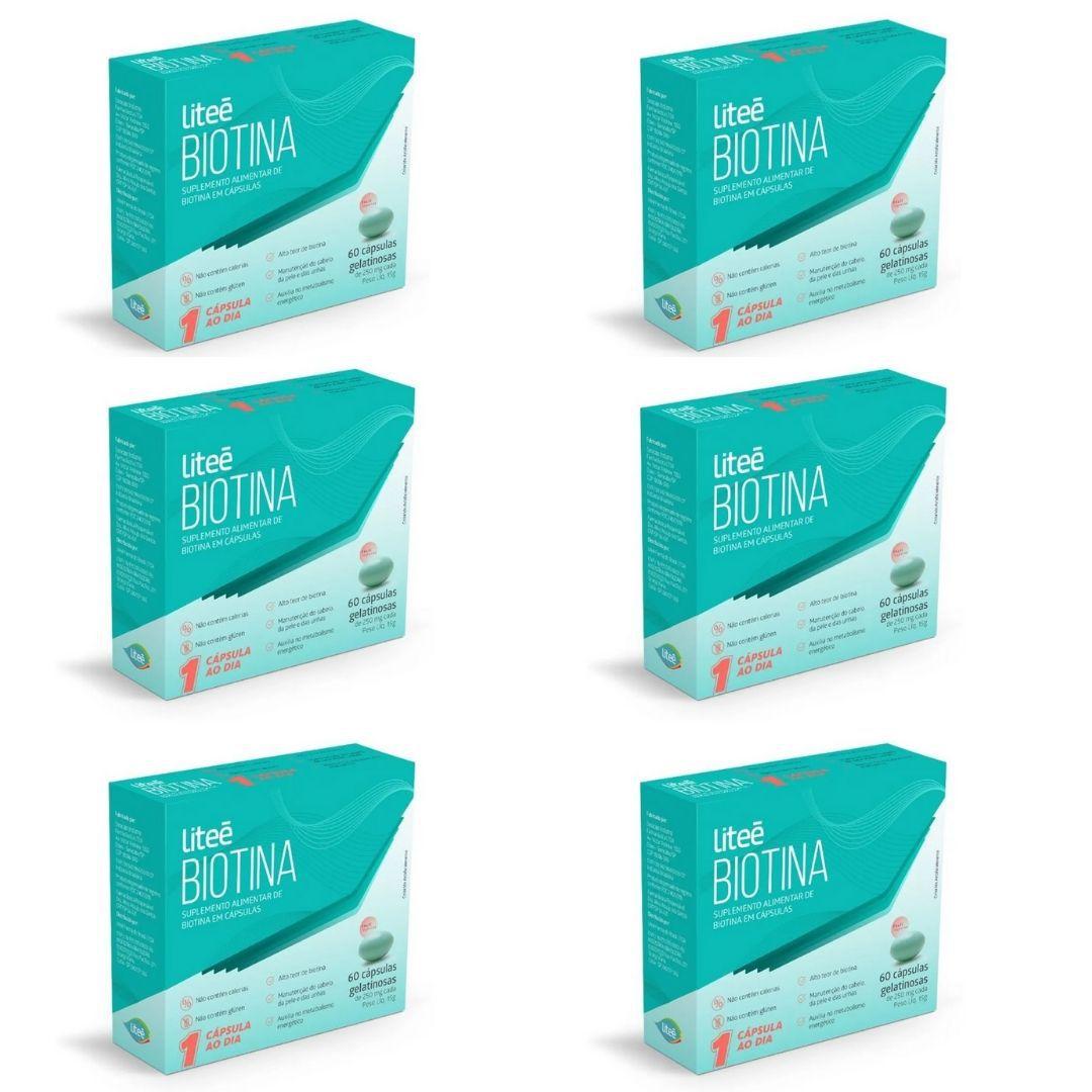 Combo Elogio da Manicure - 180 dias de Biotina - Leve 6 unidades e pague 5.