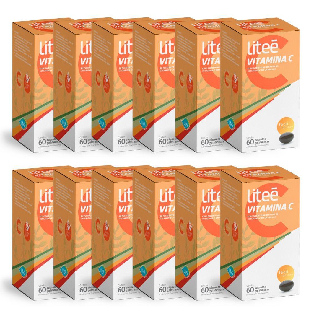 Leve 12 Pague 10 Vitamina C Liteé 60 Cápsulas