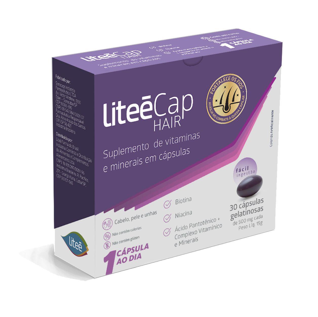 6 LiteéCap Hair 30 Cápsulas Gelatinosas