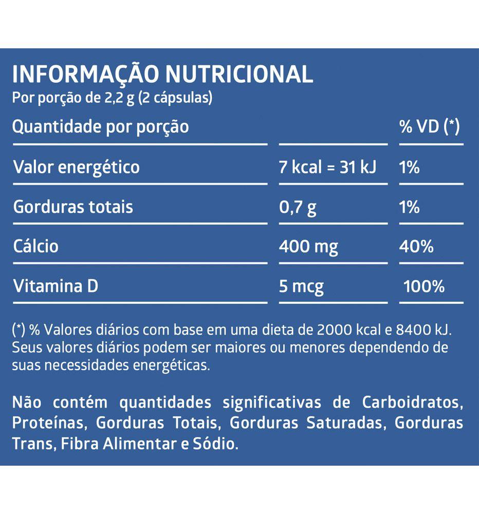 Litee Cálcio e Vitamina D Suplemento Alimentar - 60 cápsulas Gelatinosas