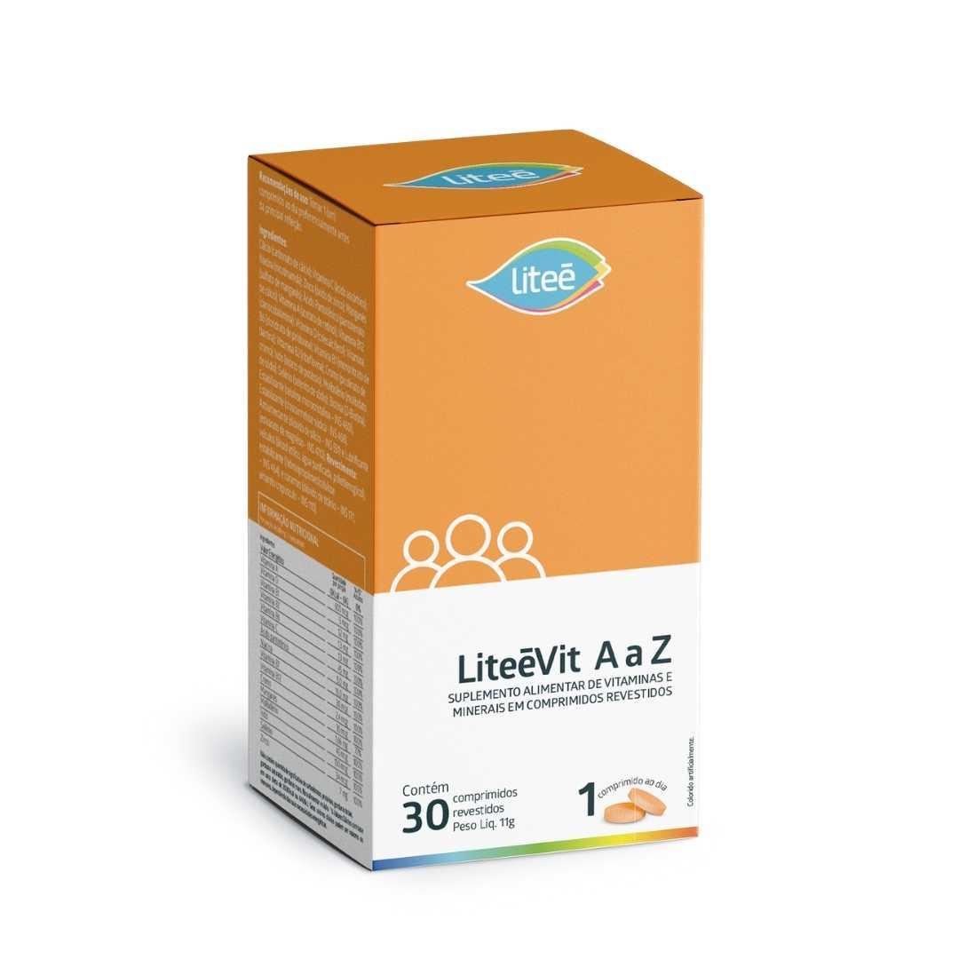 Multivitamínico LiteéVit de A a Z com 30 Comprimidos