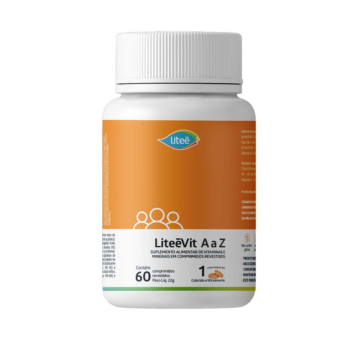 Multivitamínico LiteéVit de A a Z com 60 Comprimidos