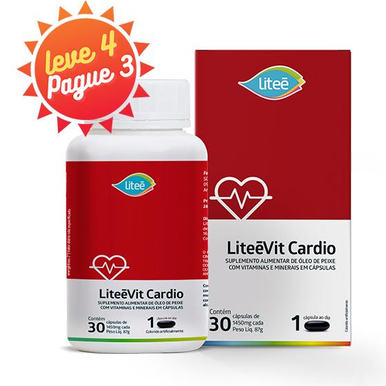 LiteeVit Cardio Multivitamínico Com Ômega3 - 30 Cápsulas Gelatinosas