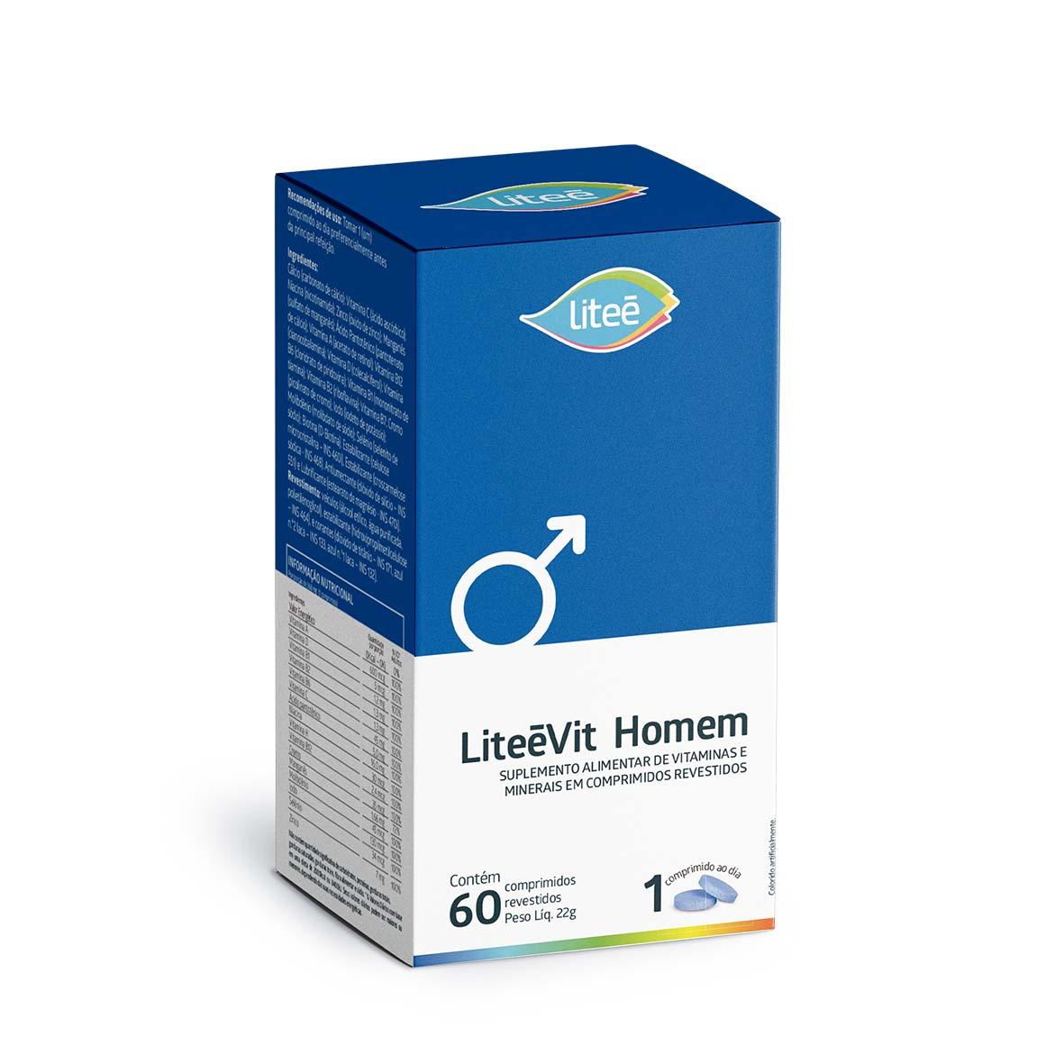 Multivitamínico LiteéVit Homem - 60 comprimidos