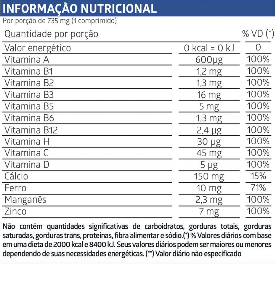 LiteeVit Homem Multivitamínico Masculino- 60 comprimidos