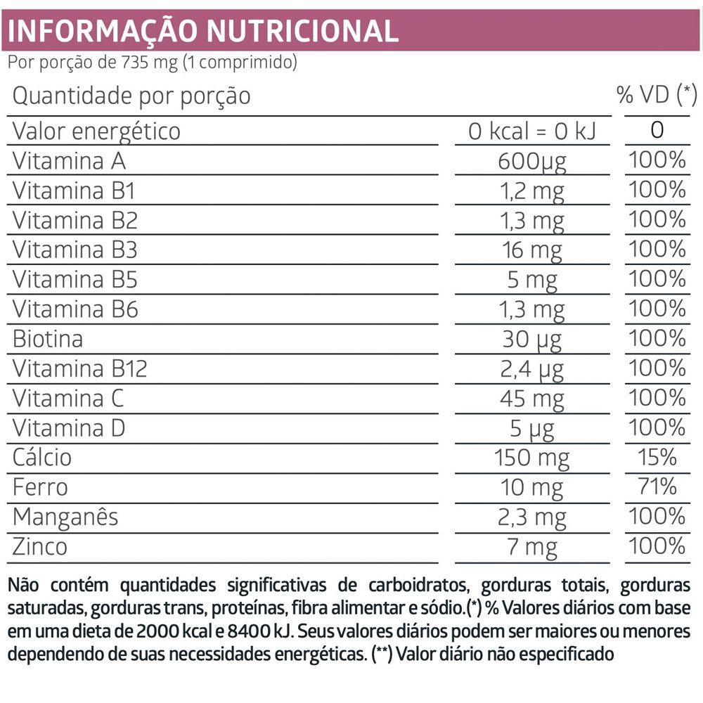 LiteeVit Mulher Multivitamínico Feminino- 30 Comprimidos