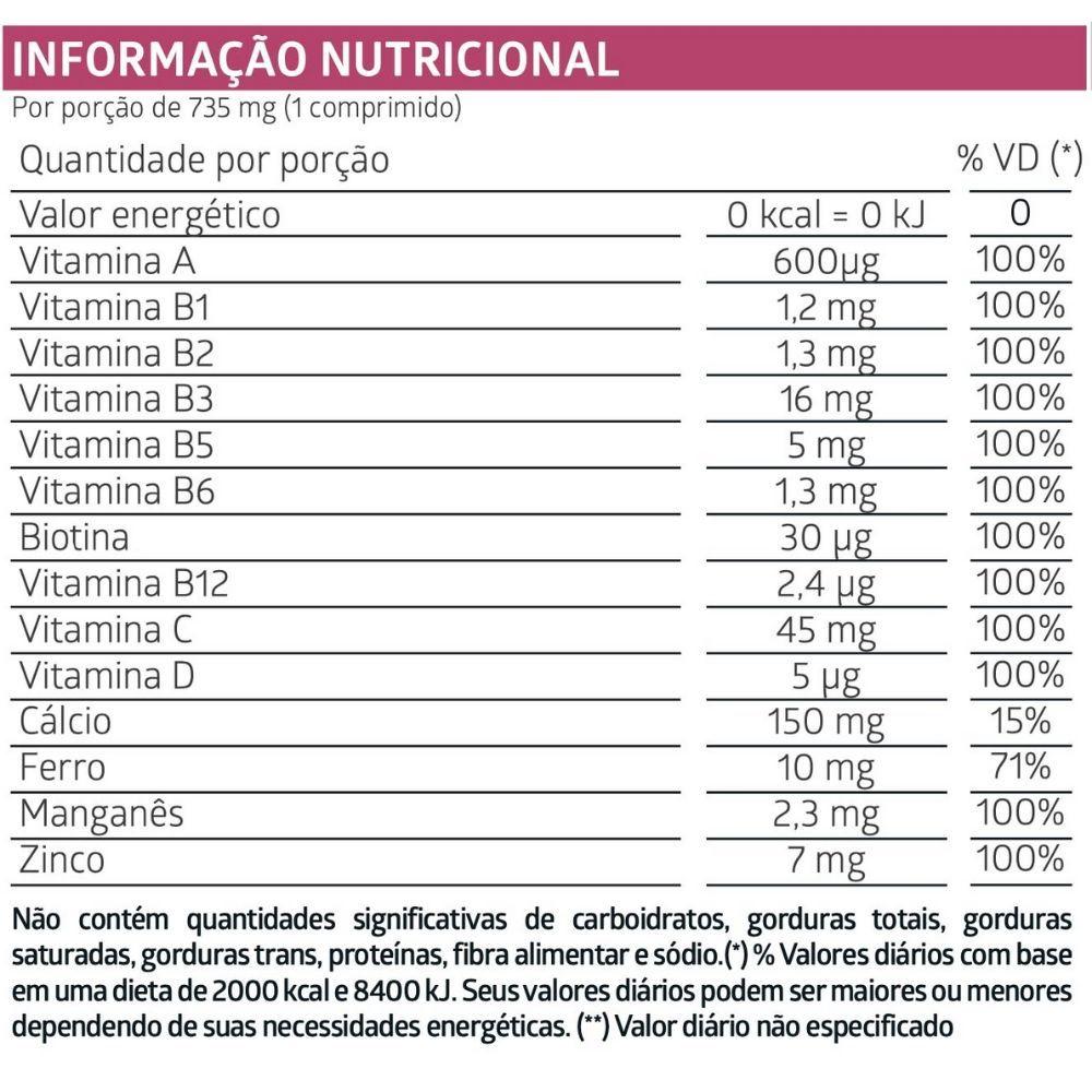 LiteeVit Mulher Multivitamínico Feminino 60 Comprimidos