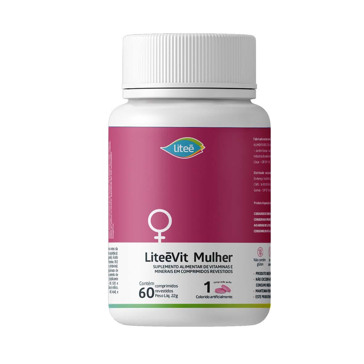 Multivitamínico LiteéVit Mulher - 60 Comprimidos