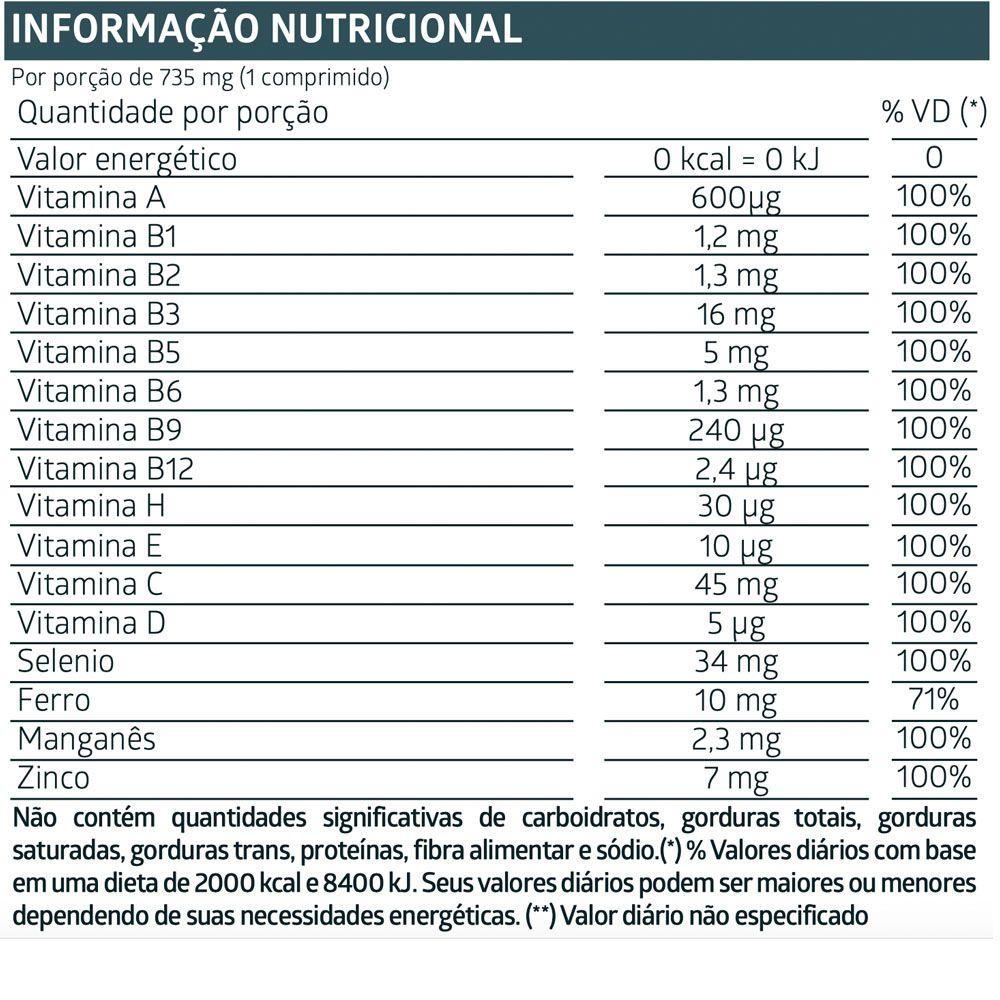 LiteeVit Sênior 50+ Multivitamínico - 60 Comprimidos
