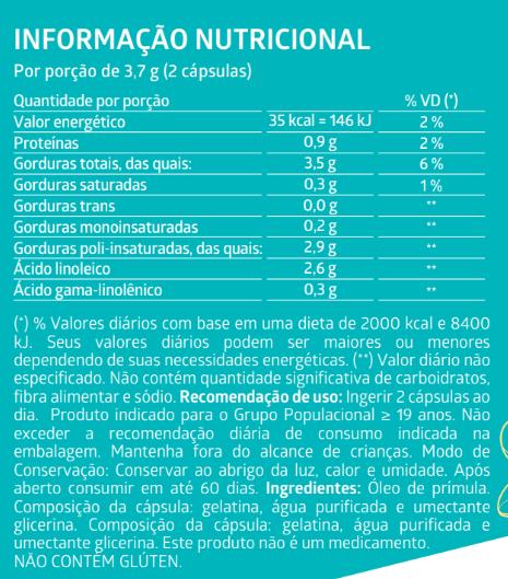 ÓLEO DE PRÍMULA 60 Cápsulas Gelatinosas