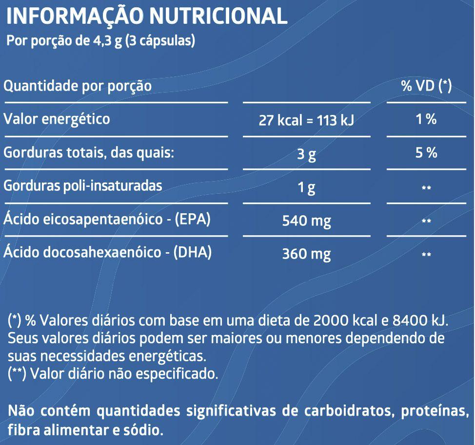 ÔMEGA 3 180 Cápsulas Gelatinosas - EMBALAGEM ECONÔMICA