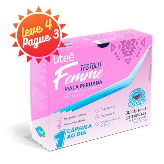 TESTOLIT FEMME - 500MG Maca Peruana por cápsula - 30 Cápsulas Gelatinosas