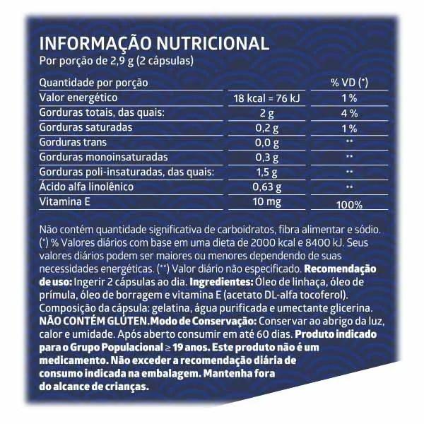 Triplo Ômega 3-6-9 60 Cápsulas Gelatinosas - 1.000MG