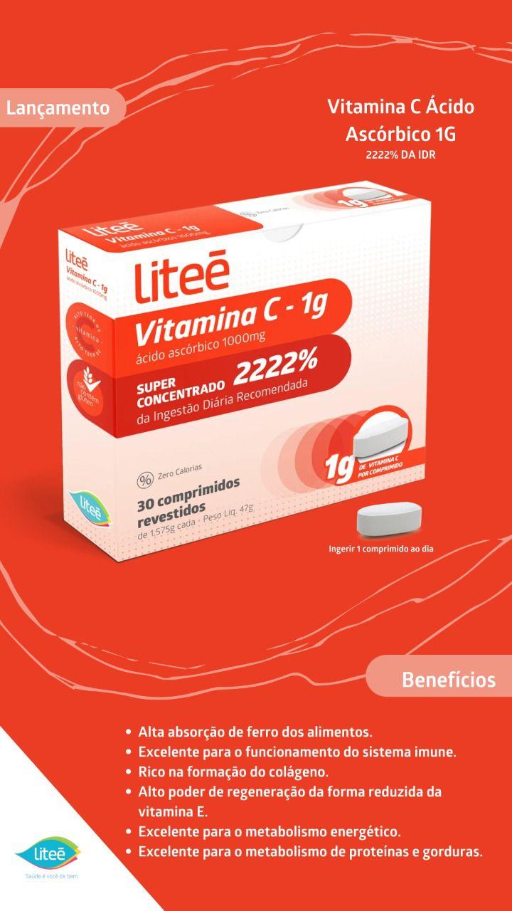Vitamina C 1G  - 30 comprimidos revestidos