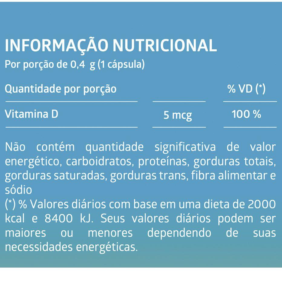 Vitamina D 60 Cápsulas Gelatinosas