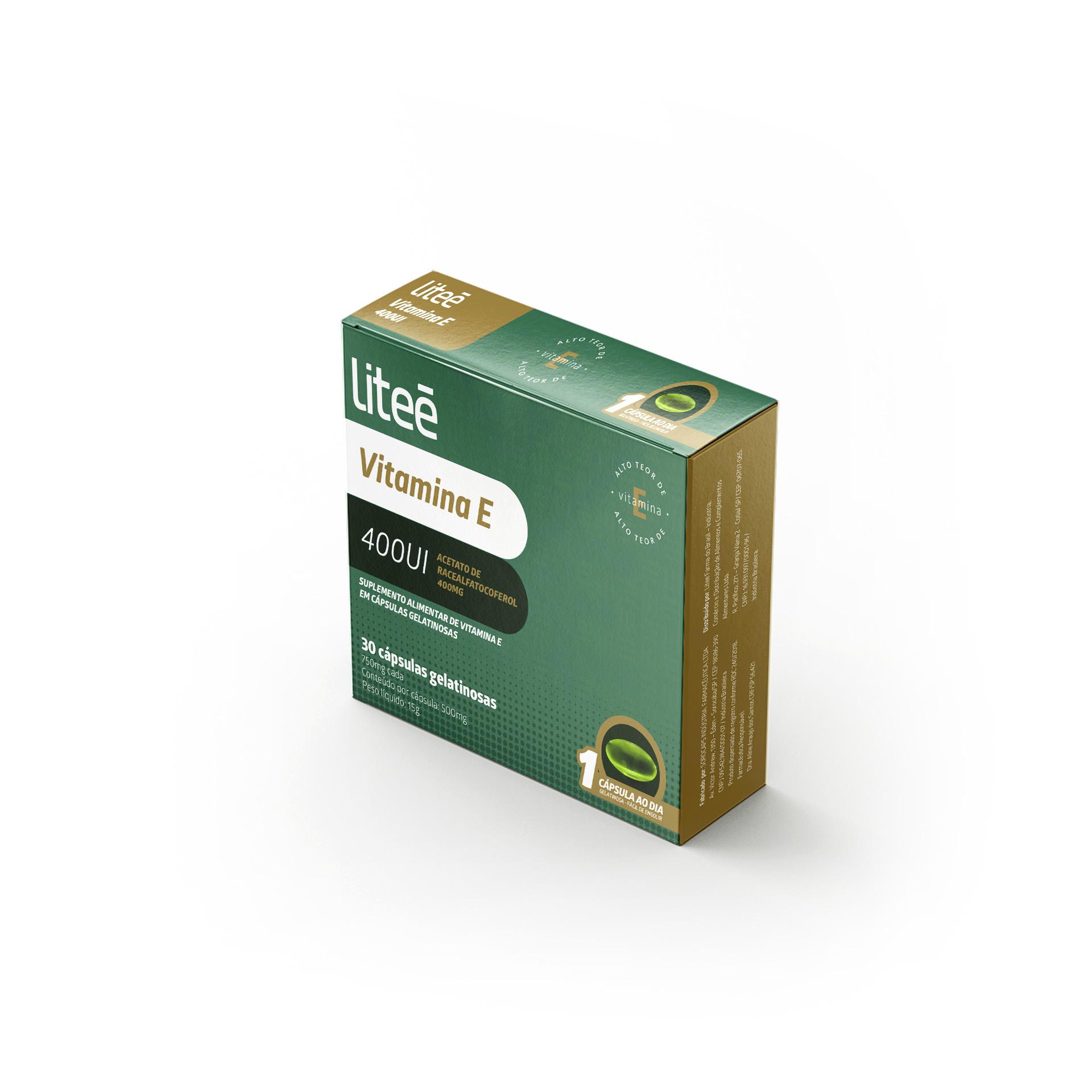 Vitamina E 400UI - ACETATO DE RACEALFATOCOFEROL 400MG