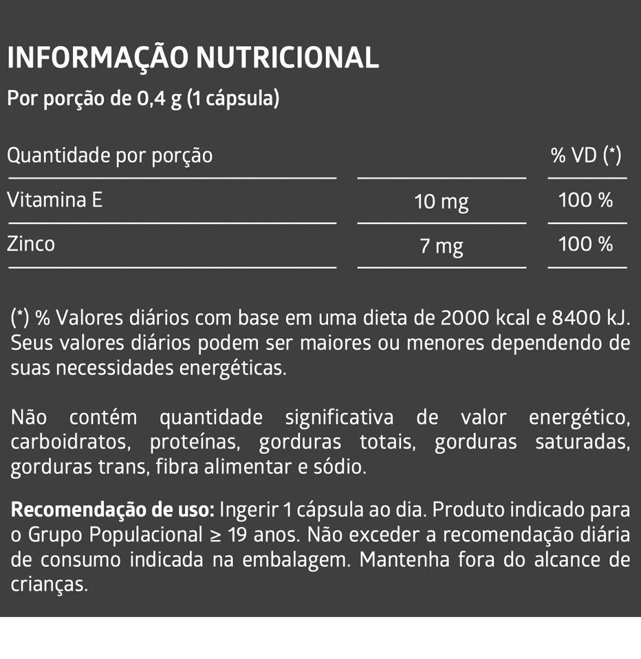 ZINCO 60 Cápsulas Gelatinosas