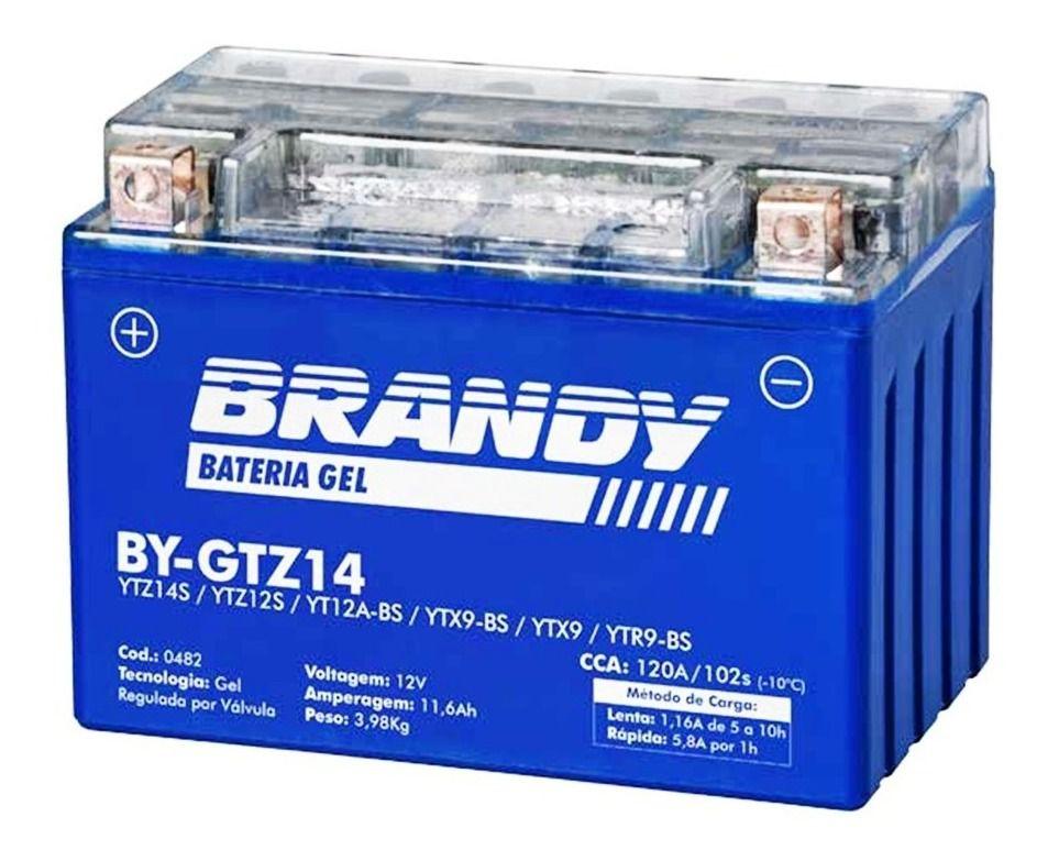 Bateria Brandy Bygtz14/ytz14s Gel Shadow750