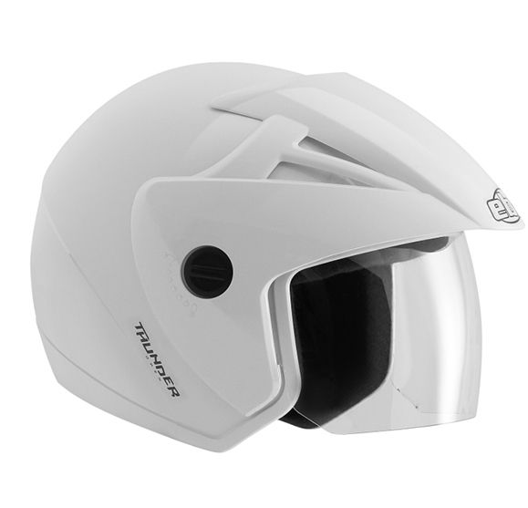 Capacete Ebf Thunde Ope Solid 56 Bco