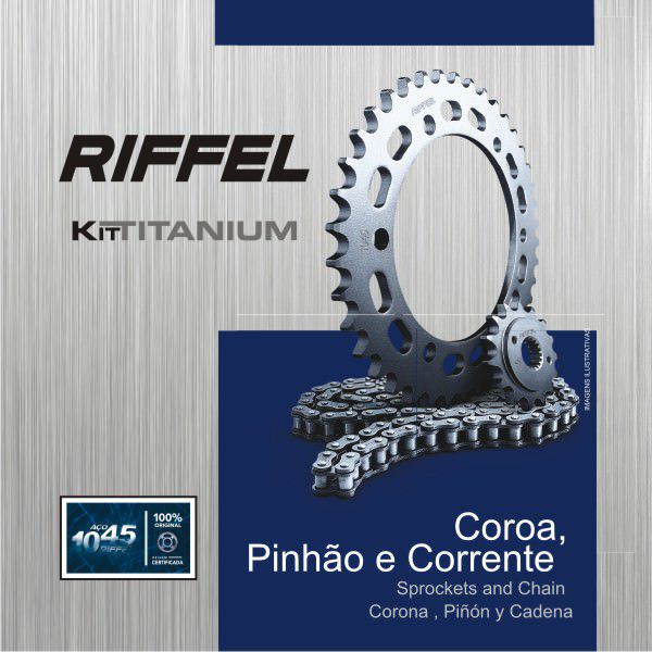 Kit Relacao Riffel Biz125 Es/ks 1045 71877