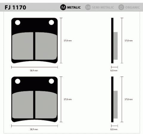 Pastil/freio Fischer Gsx1100/750 Dian 1170m