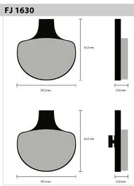 Pastil/freio Fischer Harley David Dian Fj1630m