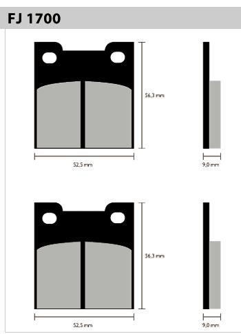 Pastil/freio Fischer Suzuki 900rr/rs/rs2 1700m