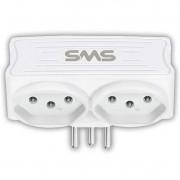 Acessorios SMS 62332 Carregador 2 USB + 2 Tomadas Preto
