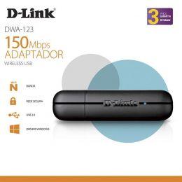 Adaptador D-LINK DWA-123 Wireless USB N 150MBPS