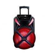 """Caixa Amplificada Bomber Papão 600 15"""" Bluetooth, P2, P10, USB e Micro SD Bivolt Preto"""